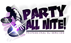 Party All Nite! DJ Logo