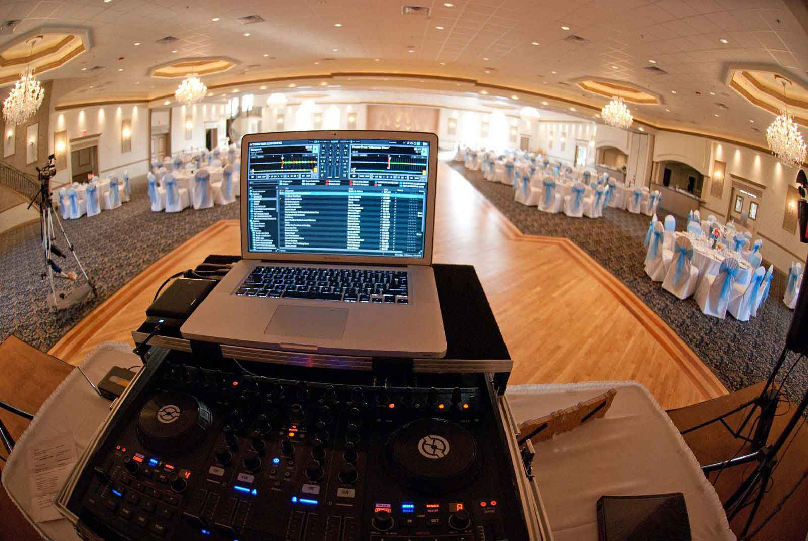 Chicago Wedding DJ Setup 2