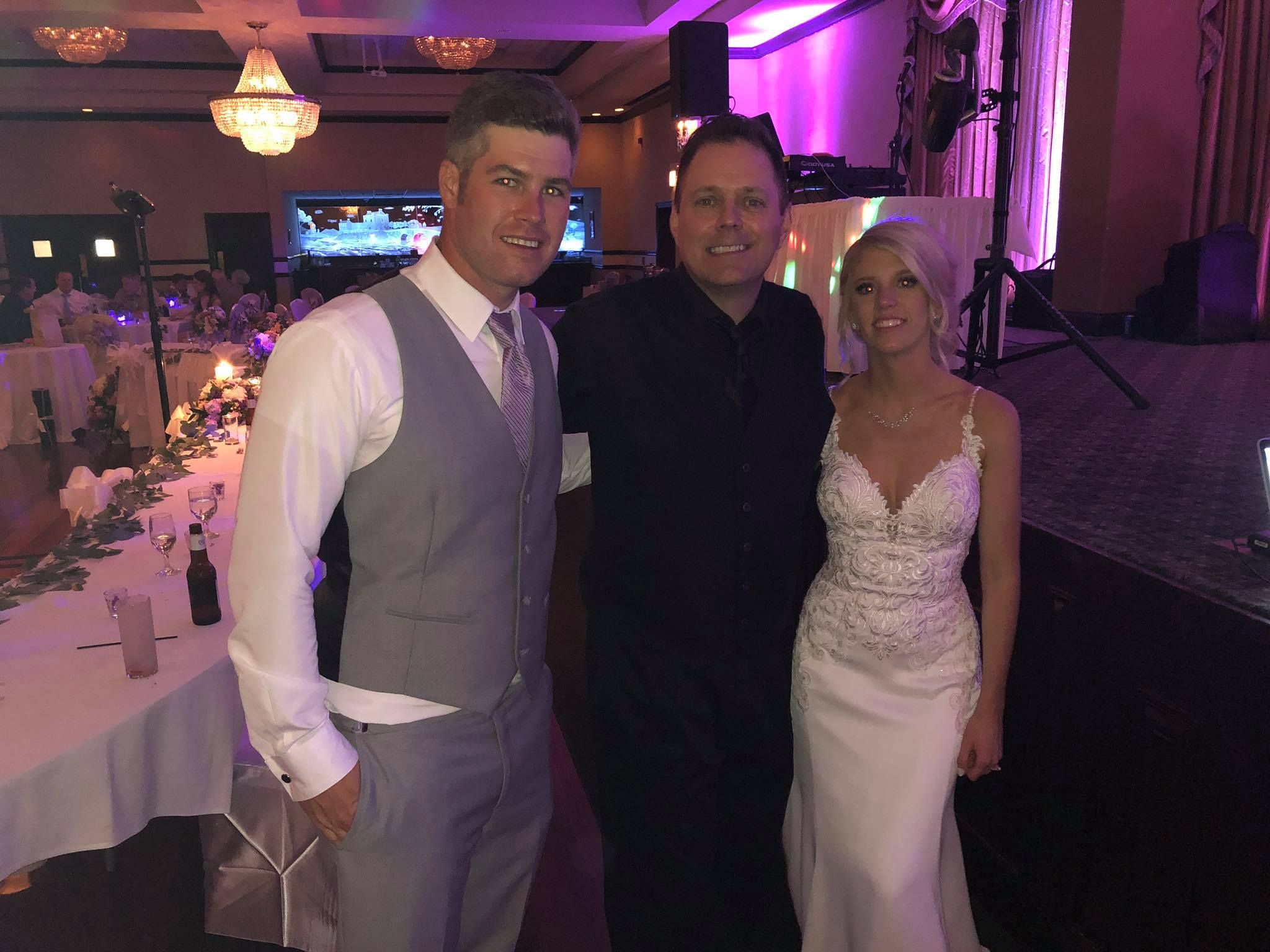 Dwayne Pliska with chicago wedding couple